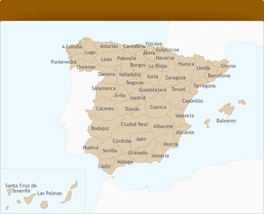 provincias y pueblos de españa
